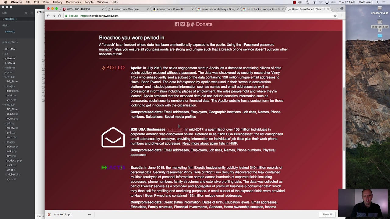 Web1400 - Module 12 - E Commerce