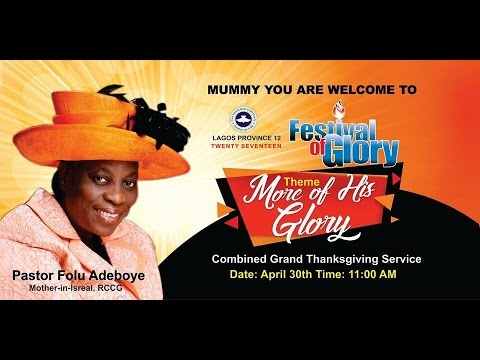 SPECIAL THANKSGIVING SERVICE_FESTIVAL OF GLORY