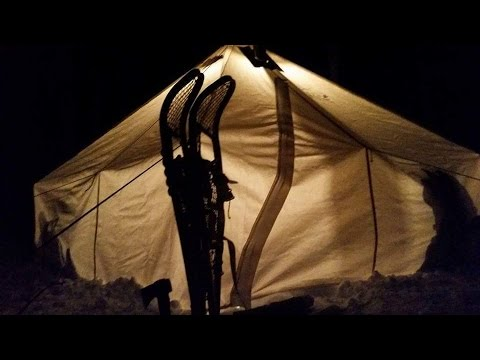 HOT TENT WINTER NIGHT & HOT TENT WINTER NIGHT - YouTube
