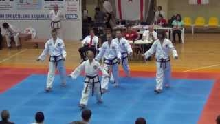 9th gtf taekwondo world championship 2013 scotland russia team pattern male