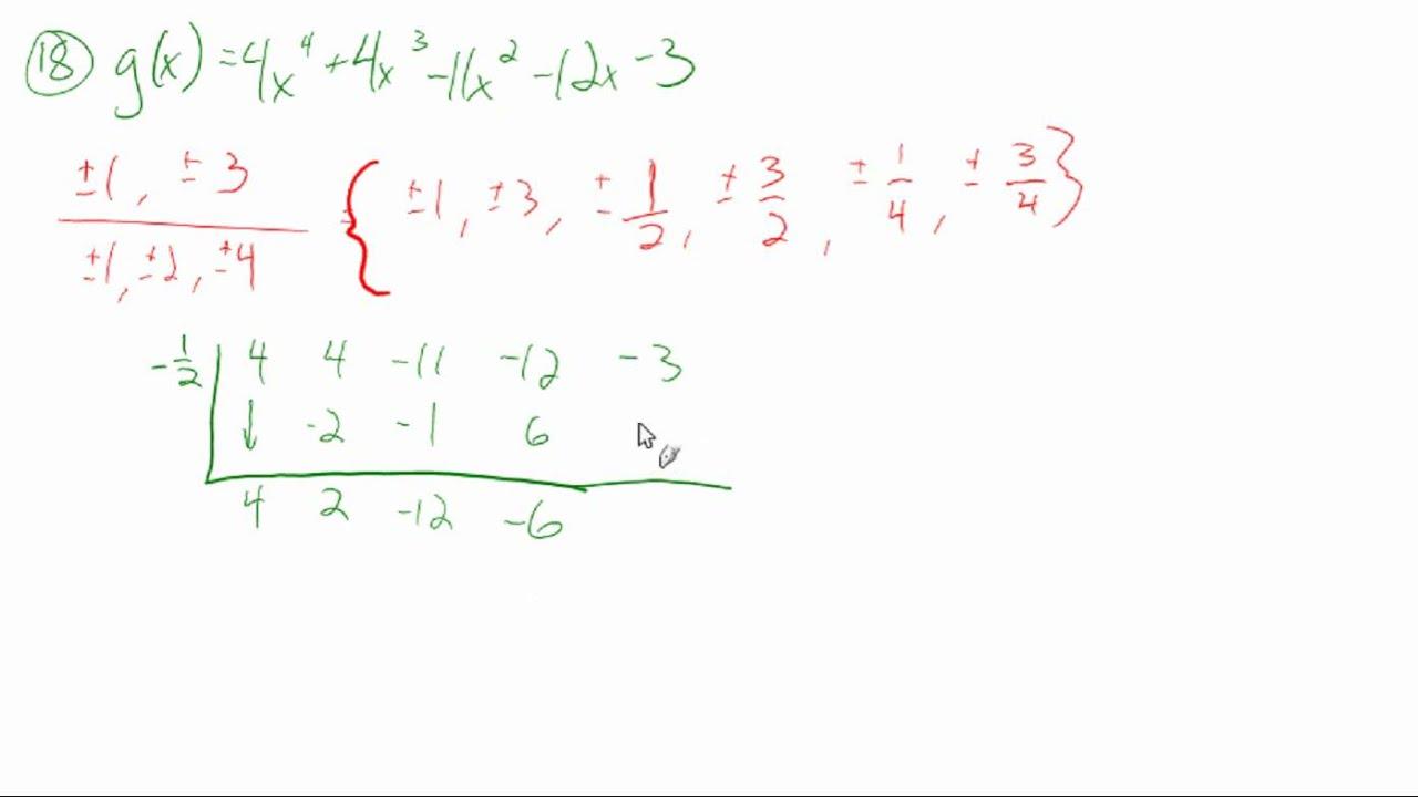 5.7: Apply the fundamental theorem of algebra (sample problems ...