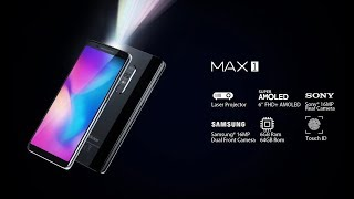 Blackview MAX 1 Official video,  Laser projector phone with big battery