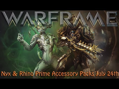 Warframe - Nyx & Rhino Prime Accessory Packs July 24th