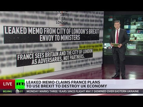 Leaked memo alleges French plot to steal London's crown as Europe's financial center