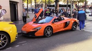 [HD] Supercars in Paris - Champs Elysées [Part 2] (McLaren 650S, Porsche 911 GT3, Corvette C7, ...)