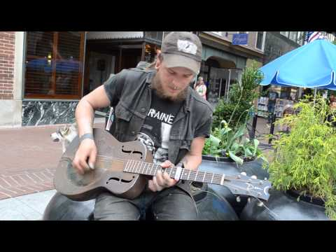 Henry from Wisconsin , busking , @ Downtown Mall , C'ville VA