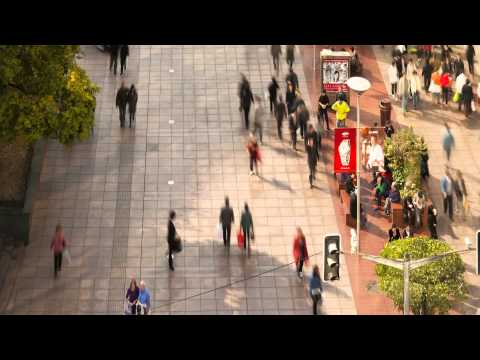 Videoryx's Software watches pedestrians walking in a  premier shopping area in Asia