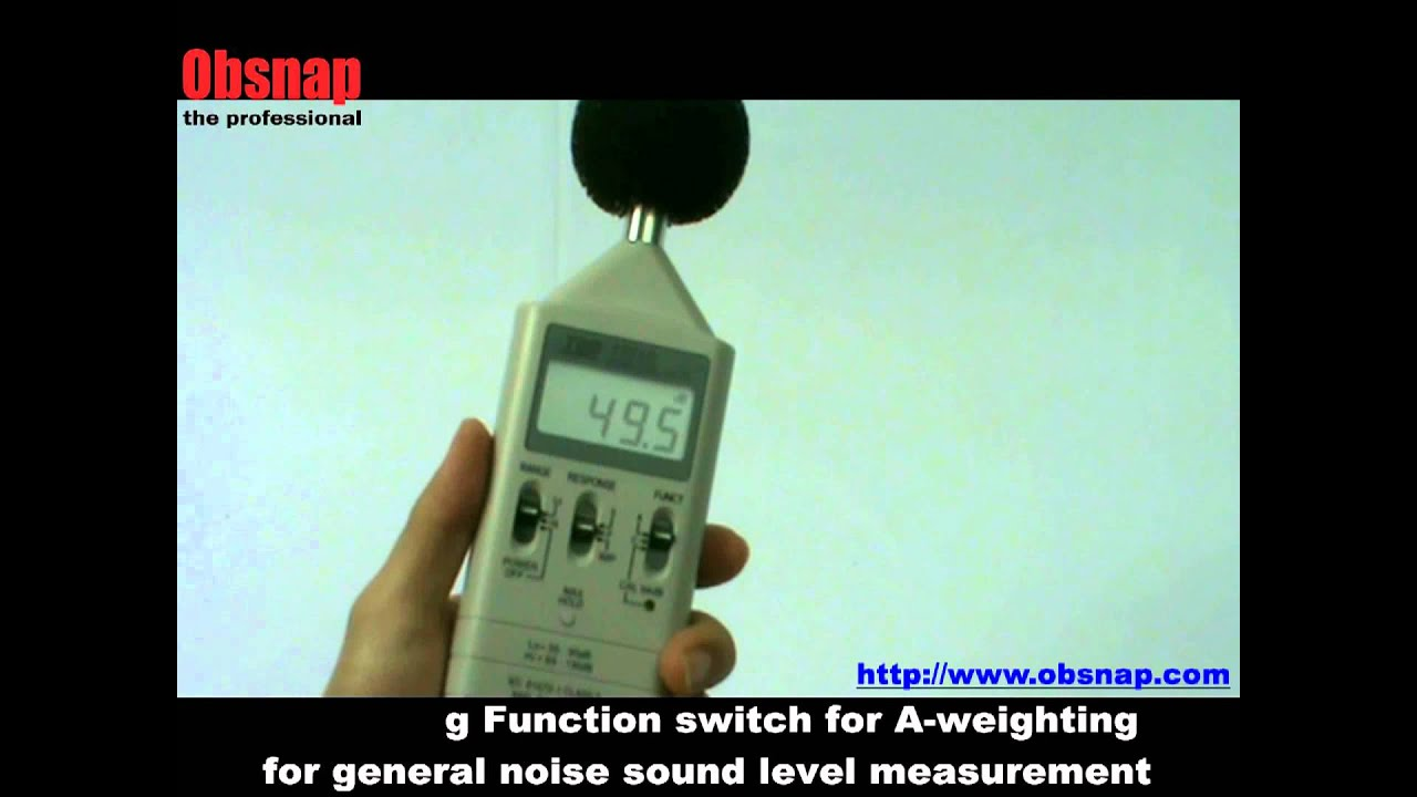 A Weighting Filter For Audio Measurement Digital Sound Level Meter Tes 1351 At Obsnap Instruments Youtube