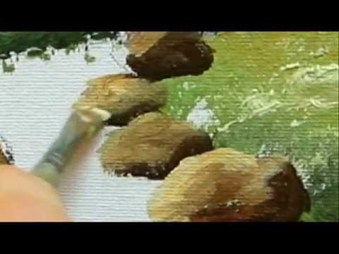 Part 6 Landscape Acrylic How To Paint Rocks Youtube