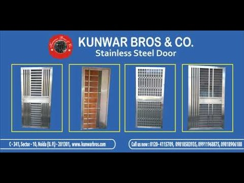 Stainless Steel Main Gate Amp Security Door Youtube