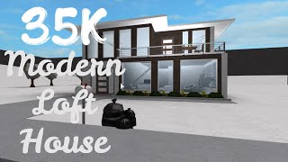 35K Modernes Haus mit einem Loft Gebäude Tutorial (Roblox Bloxburg) | Sein SugarCoffee
