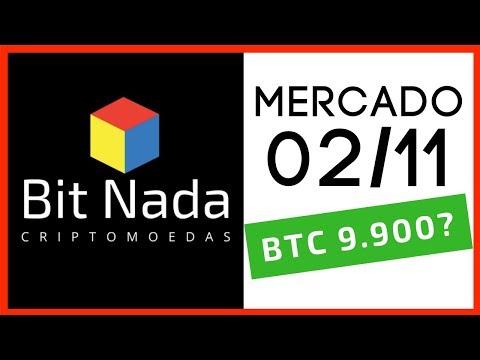 Mercado de Cripto! 02/11 Bitcoin 9.900? / AION