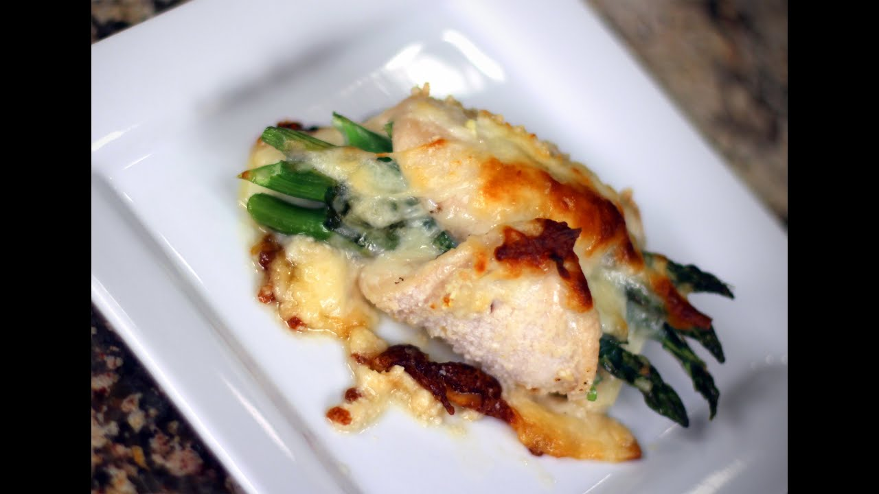 Asparagus Stuffed Chicken Breast Recipe Baked With