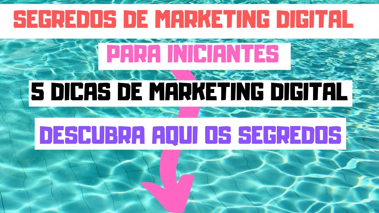 SEGREDOS de  Marketing DIGITAL Para INICIANTES #segredosdemarketingdigital 5 DICAS de marketing