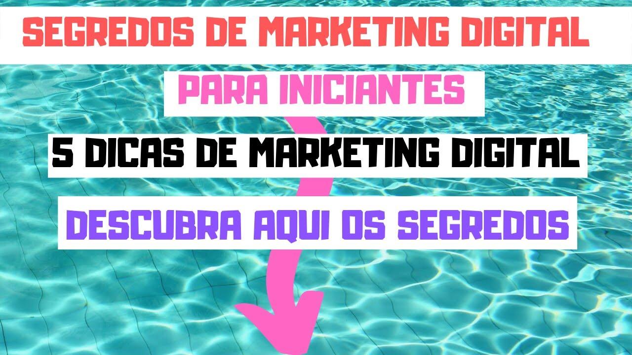 SEGREDOS de  Marketing DIGITAL Para INICIANTES #segredosdemarketingdigital 5 DICAS de marketing