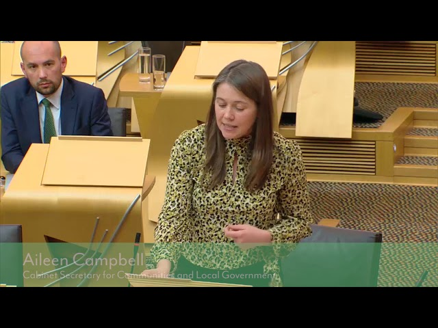 Aileen Campbell endorses SE Code in Scottish Parliament