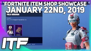 Fortnite Item Shop DINOSAUR SKINS AND MEDICS ARE BACK! [January 22nd, 2019]