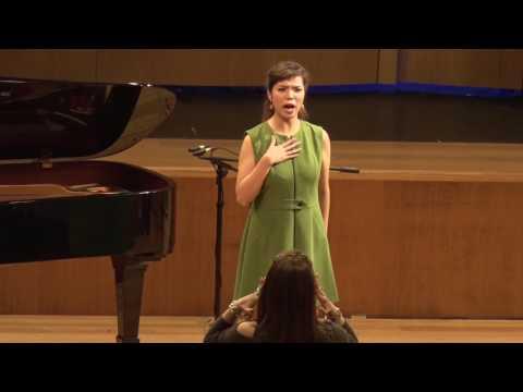 2016: Sarah Wang, soprano. MasterClass with Barbara Frittoli and David Harper