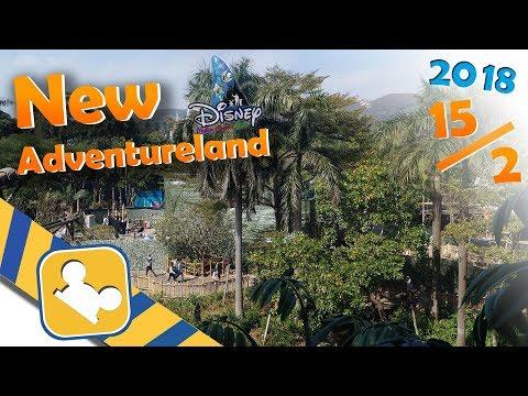 Construction Update:NEW Adventureland Show Place | Hong Kong Disneyland (Feb 15, 2018)