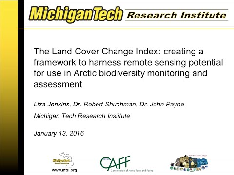 CAFF's Land Cover Change Index Webinar: January 13, 2016
