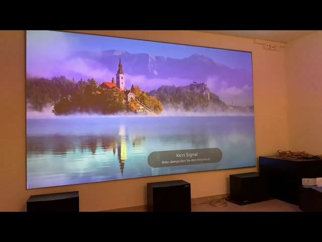 Elite Screens Aeon CineGrey 3D® with LG 4K Projector Customer Review