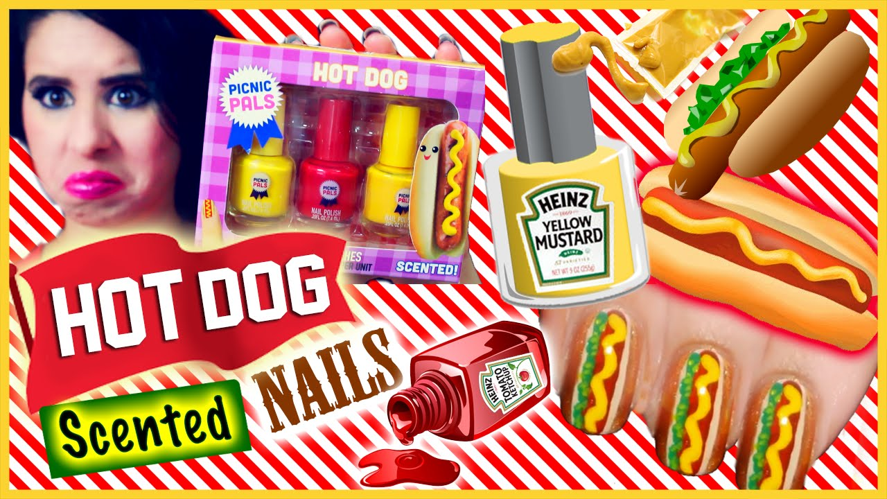 Hot Dog Scented Nail Polish!? Smell Test, Demo & Review! - YouTube