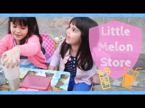 Kendra and Scarlett's little Melon Juice Store