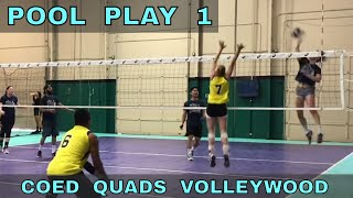 Pool Play 1 - Coed Quads Volleywood Tournament (part 1/3)