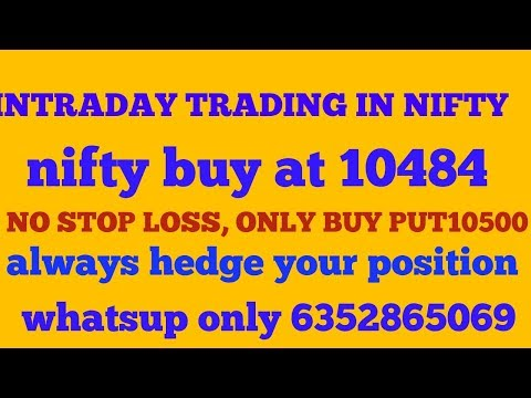 23/5/2018#Nifty intraday trading # market may pause # sun pharmaceutical buy#sell ACC