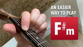 an easier way to play f#m (no barre chord required)