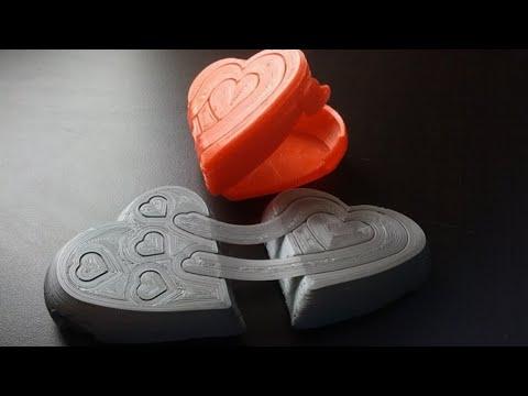 3d printing a heart shaped box