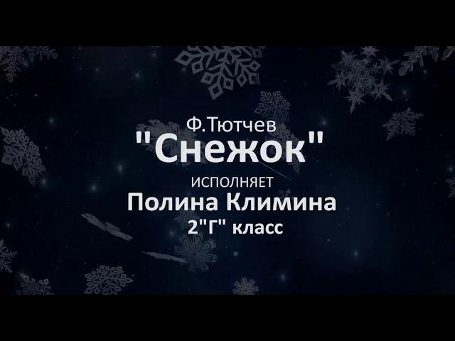 Изображение предпросмотра прочтения – ПолинаКлимина читает произведение «Снежок» Ф.И.Тютчева
