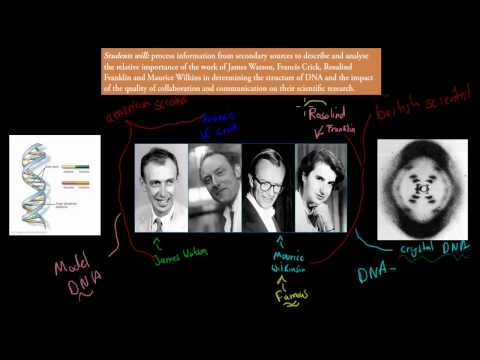 9. James Watson, Francis Crick, Rosalind Franklin and Maurice Wilkins (HSC biology)
