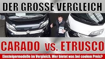 Der große Vergleich bei den Einsteigerklassen. Carado Van V 337 vs. Etrusco Van V 660 SB. Wohnmobil.