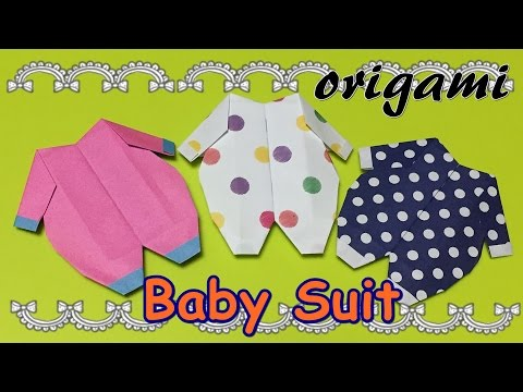 DIY origami baby suit | How to make a paper craft baby clothes idea | Origami easy 1 piece of paper