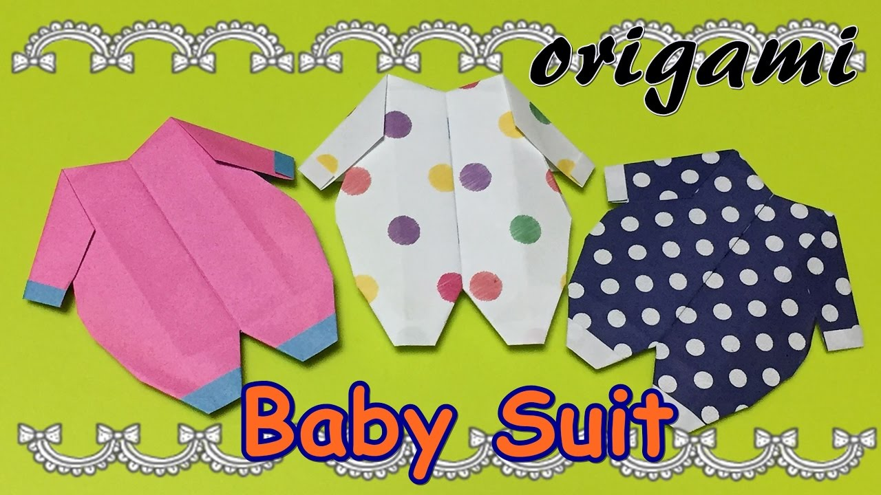 diy origami baby suit how to make a paper craft baby
