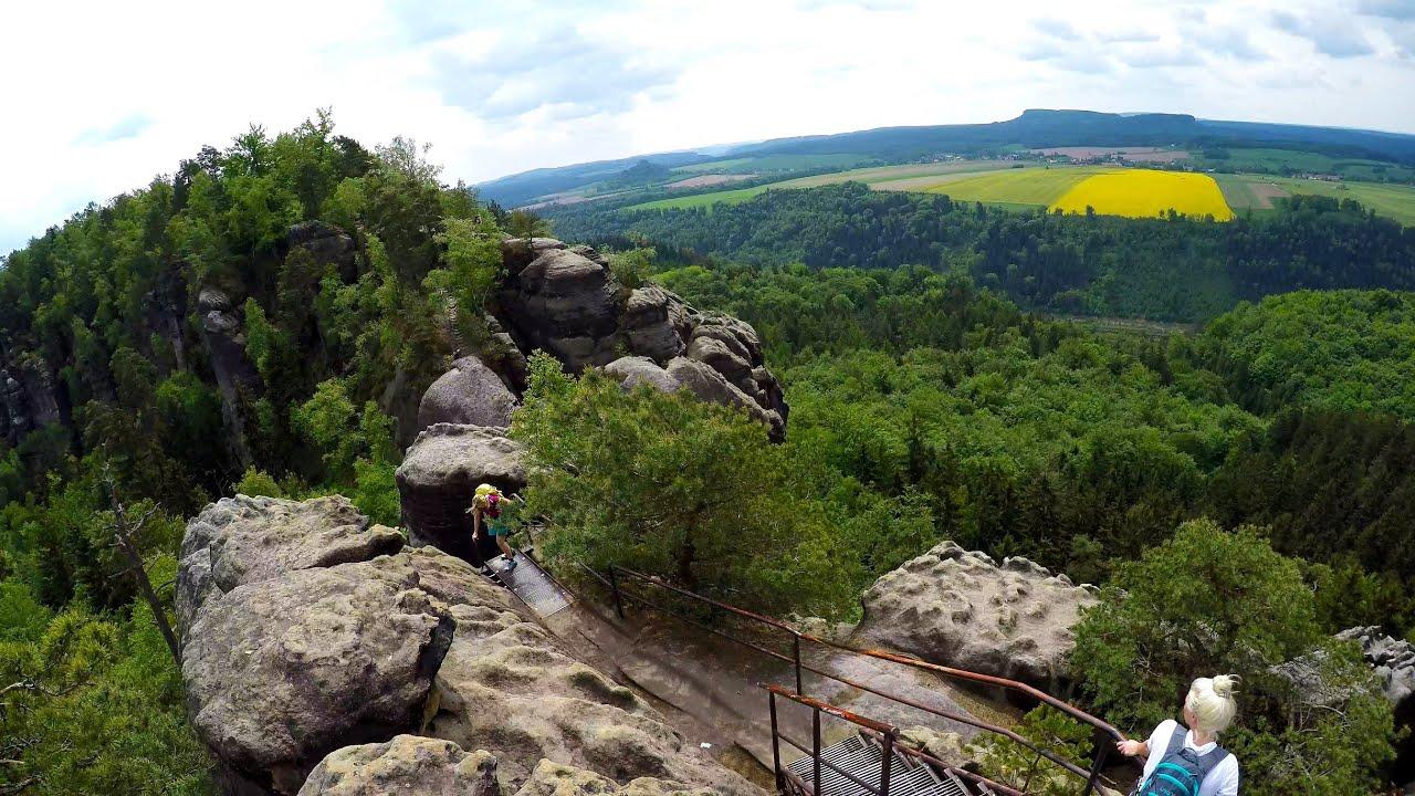 Klettersteig Sächsische Schweiz : Elbsandsteingebirge klettersteig tour sächsische schweiz wandern