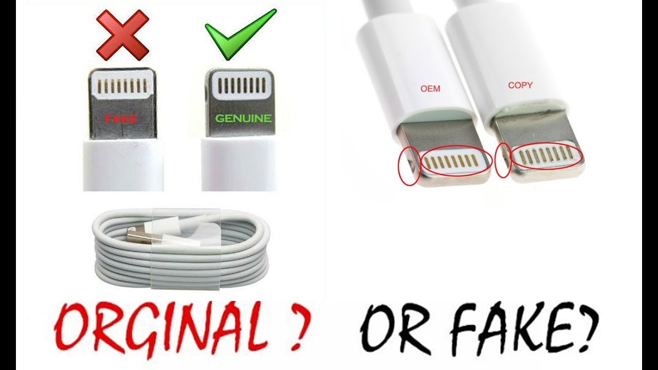 97bc334e5 How To Tell If Your Apple Lightning Cable Charger Is Real or Fake iphone  Date Cable urdu hindi