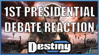 destiny s reaction to the first 2016 presidential debate