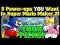 5 Power-ups YOU Want In Super Mario Maker 2 - Nintendo Switch
