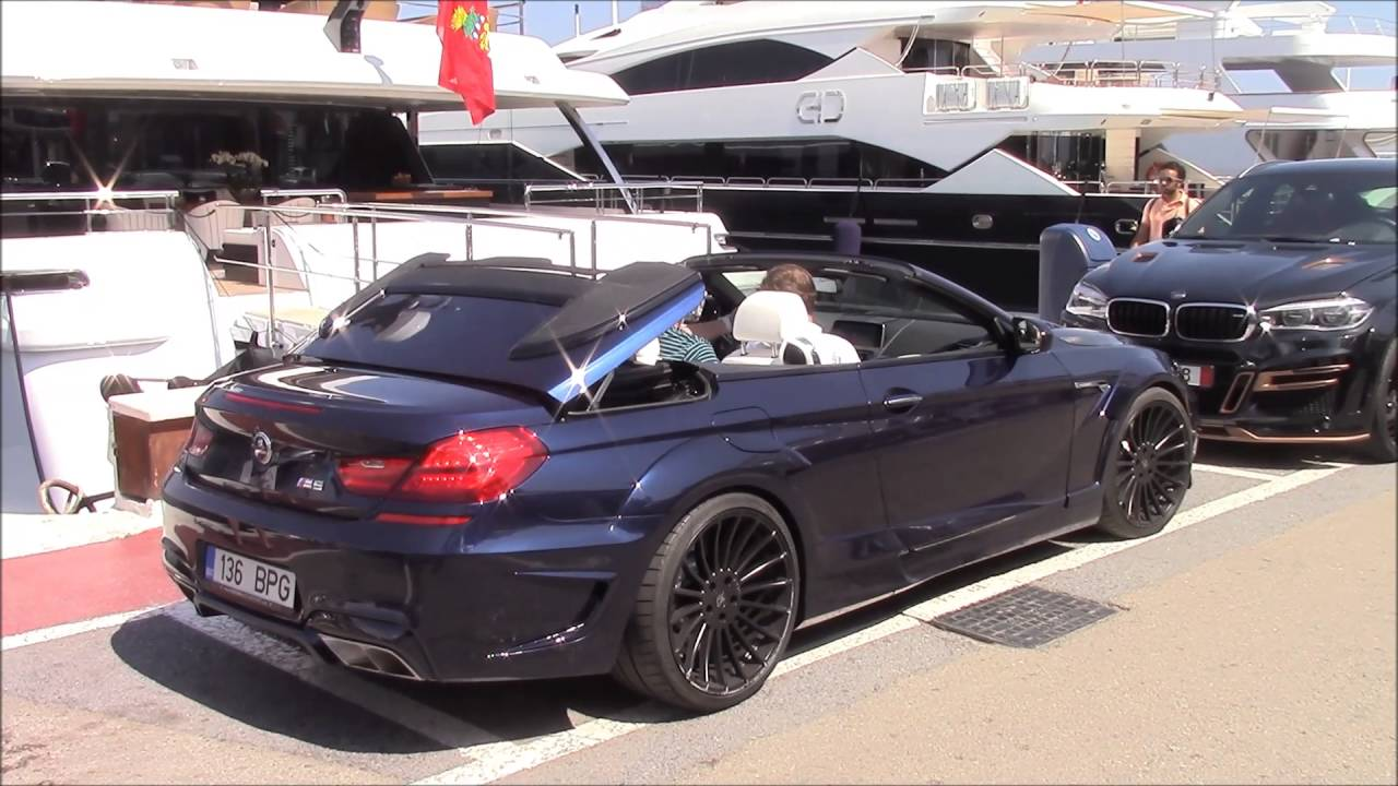 new bmw m6 cabrio hamann in puerto banus marbella 2016 youtube. Black Bedroom Furniture Sets. Home Design Ideas