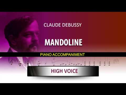 MANDOLINE / Karaoke piano / Claude Debussy / High voice