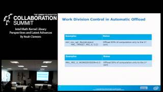 Collaboration Summit 2013 - Intel Math Kernel Library Perspectives & Latest Advances