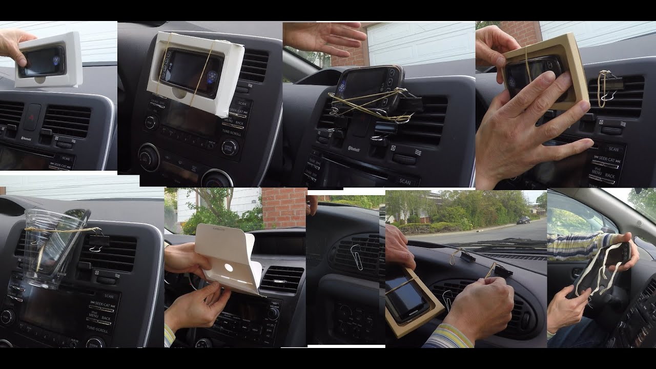 The Cheapest And Simplest DIY Cell Phone GPS Mount In A Car