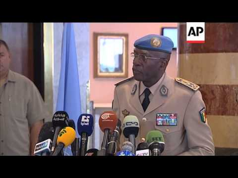 Head of UN observer mission comments to journalists