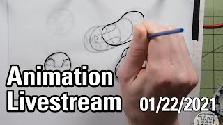 Twitch Stream 1-22-2021: Traditional Animation: Faceloops Four Faces