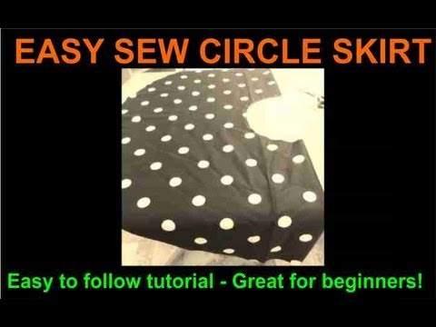 Easy Sew Circle Skirt Youtube