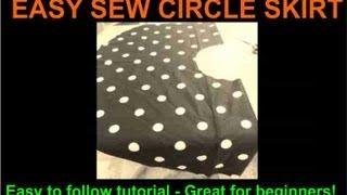 Easy Sew Circle Skirt