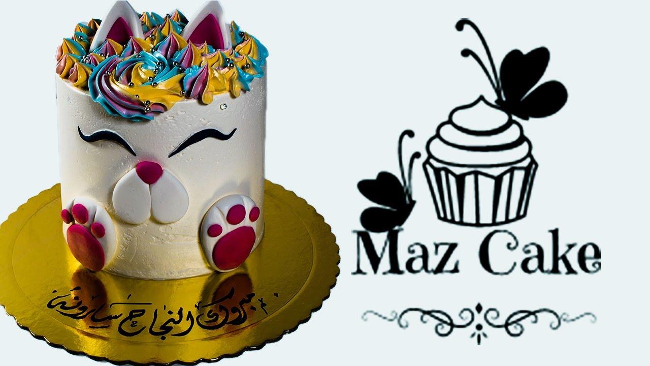 طريقة صنع كيك القطه باسهل طريقة | MAZ CAKE | كيك ماز