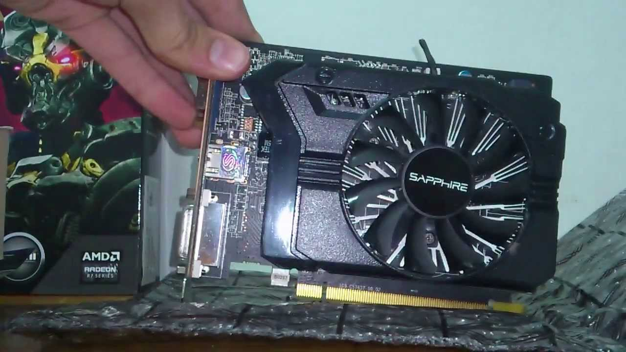 Sapphire Radeon R7 250 1gb Ddr5 With Boost Unboxing Youtube Vga His 2gb